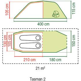Tienda túnel Coleman Tasman 2 verde